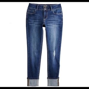 Mudd Double Button Skinny Jeans, Cuff Or Wear Down